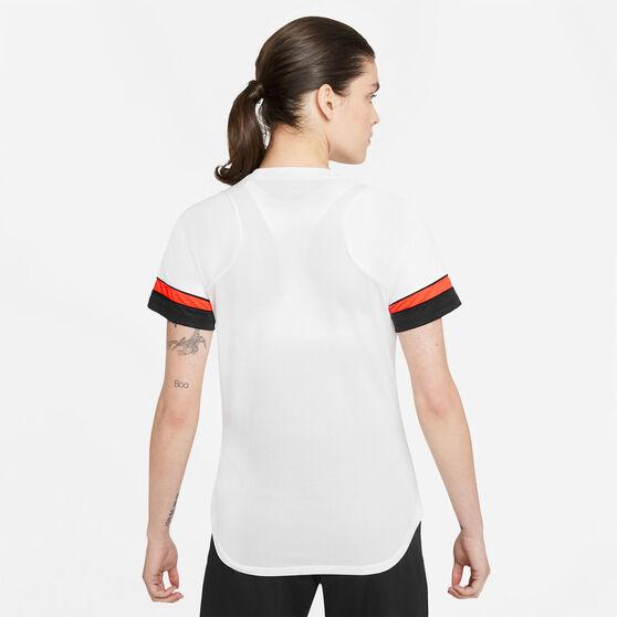 Nike Womens Dri-FIT Academy Soccer Tee, White, rebel_hi-res