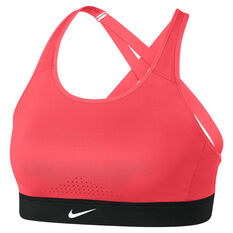 Nike Womens Impact High Support Sports Bra Red / Black XS, Red / Black, rebel_hi-res
