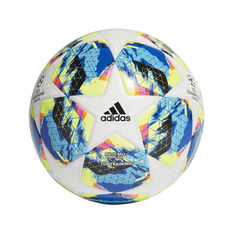 adidas Finale 19 Top Trainer Soccer Ball White / Blue 4, White / Blue, rebel_hi-res