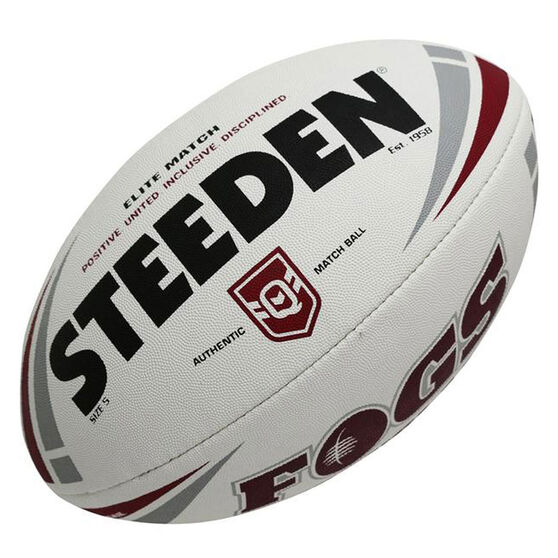 Steeden QLD Rugby League Elite Authentic Match Ball, , rebel_hi-res
