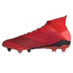 adidas Predator 19.1 Mens Football Boots Red US 7, Red, rebel_hi-res