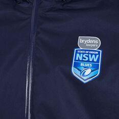 NSW State of Origin Mens Wet Weather Jacket Blue M, Blue, rebel_hi-res