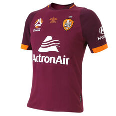 Brisbane Roar 2018 / 19 Mens Third Jersey Red / Orange S, Red / Orange, rebel_hi-res