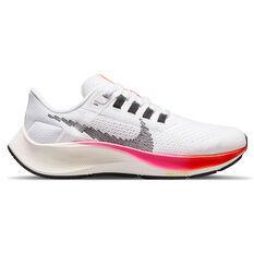 Nike Air Zoom Pegasus 38 Kids Running Shoes White/Black US 1, White/Black, rebel_hi-res