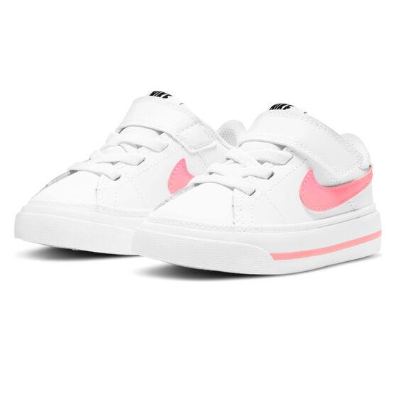 Nike Court Legacy Toddlers Shoes, White/Pink, rebel_hi-res