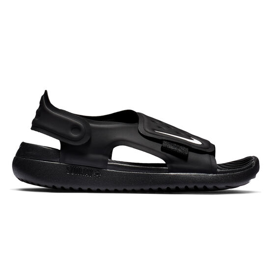 Nike Sunray Adjust 5 Kids Sandals, Black / White, rebel_hi-res