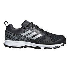 adidas Galaxy Trail Mens Trail Running Shoes Black / Grey US 7, Black / Grey, rebel_hi-res