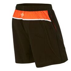 Wests Tigers 2021 Mens Training Shorts, Black, rebel_hi-res