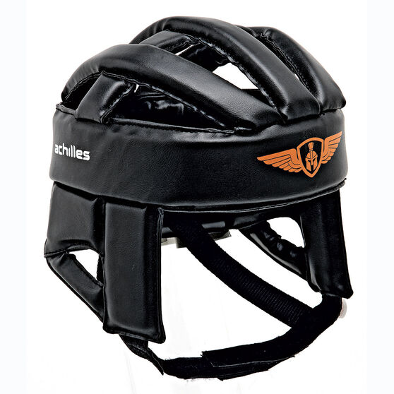 Achilles Football Headgear, Black, rebel_hi-res