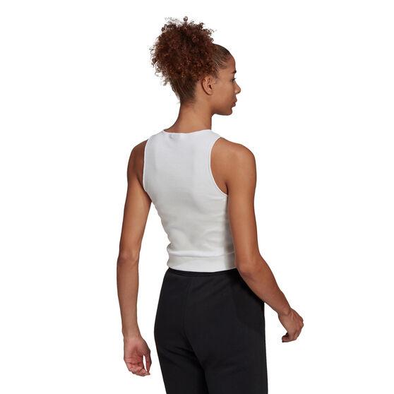 adidas Womens Sportswear Tank, White, rebel_hi-res