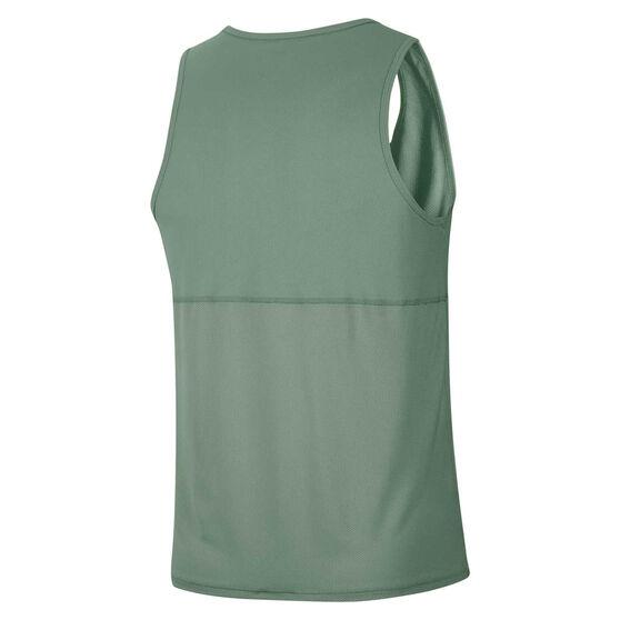 Nike Mens Breathe Running Tank, Green, rebel_hi-res