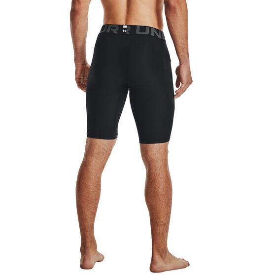 Under Armour Mens HeatGear Armour Long Shorts, Black, rebel_hi-res