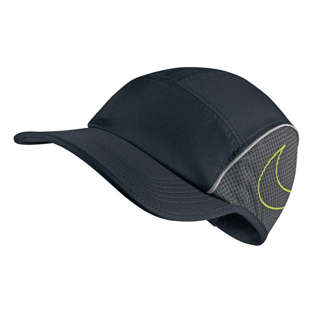 Nike AeroBill Running Cap Black OSFA  f8ad3b1a97a