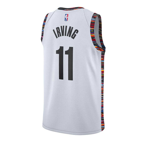 Nike Brooklyn Nets Kyrie Irving 2019/20 Mens City Edition Jersey, White, rebel_hi-res
