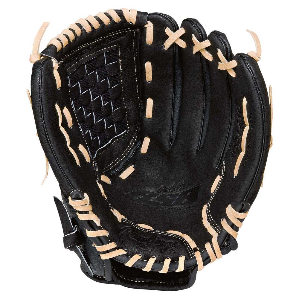 Rebel Sport Inner Gloves: Rawlings SS 12.5in RHT Baseball Glove Black / Grey 12.5in