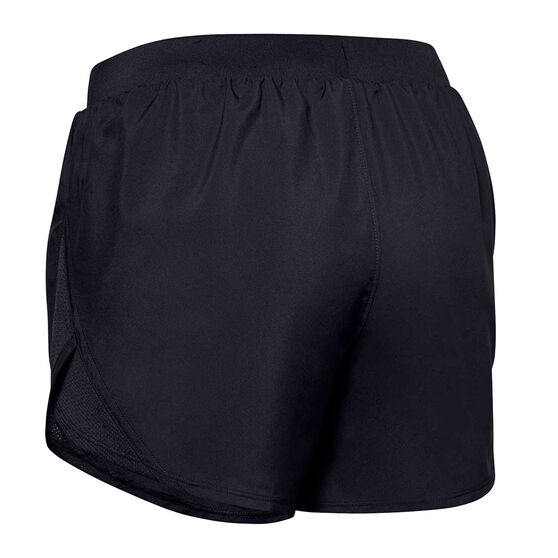 Under Armour Womens Fly By 2.0 Shorts, Black, rebel_hi-res