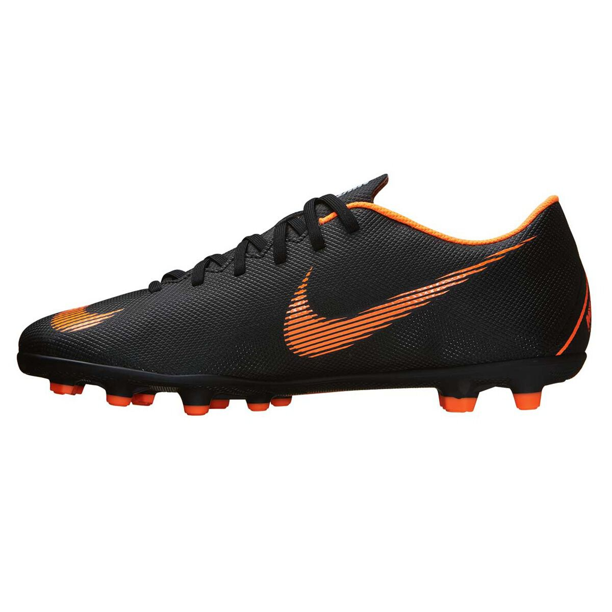 344285095 discount nike mercurial vapor 12 club mg mens football boots black orange  us 7 adult 646ef