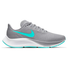Nike Air Zoom Pegasus 37 Womens Running Shoes Grey / Green US 6, Grey / Green, rebel_hi-res