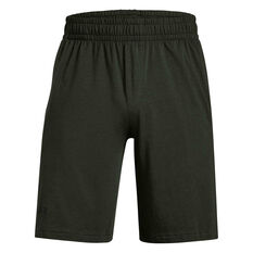 Under Armour Mens Sportstyle Cotton Graphic Shorts Green S, Green, rebel_hi-res