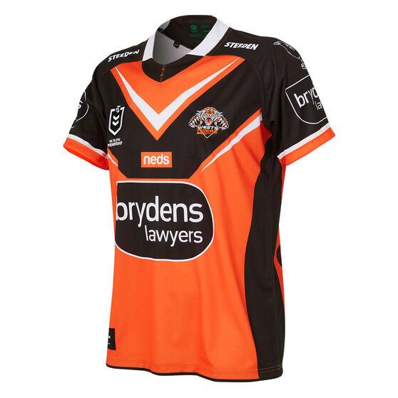 Wests Tigers 2021 Kids Away Jersey, Orange, rebel_hi-res