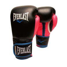Everlast Womens Powerlock Training Boxing Glove Black / Pink 12oz, , rebel_hi-res