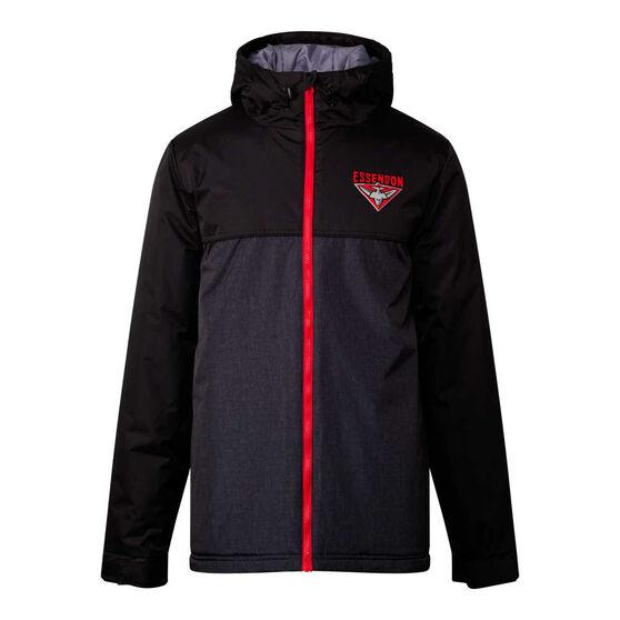 Essendon Bombers 2021 Mens Retro Stadium Jacket Black L, Black, rebel_hi-res