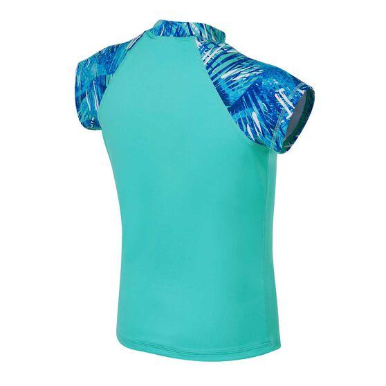 Tahwalhi Girls Take Me To The Tropics Rash Vest, Blue / White, rebel_hi-res