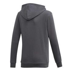 adidas Boys Must Haves Badge of Sport Hoodie Grey / Orange 6, Grey / Orange, rebel_hi-res