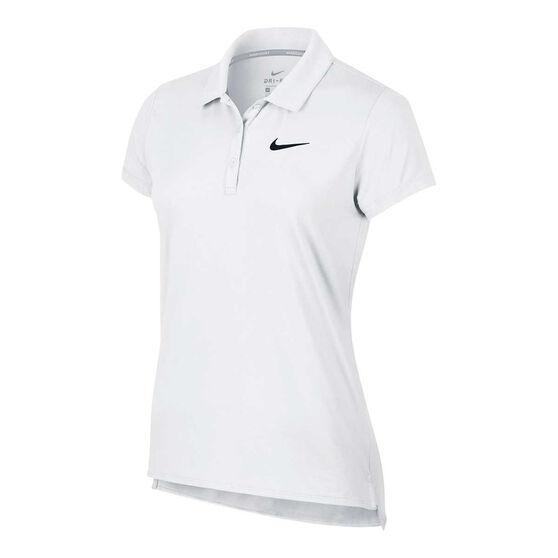 NikeCourt Womens Pure Tennis Polo, White, rebel_hi-res