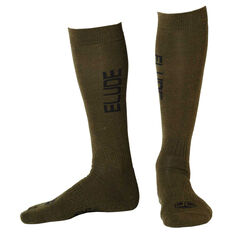 Elude Mens Radiator Socks Forest 7 - 11, , rebel_hi-res
