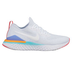 Nike Epic React Flyknit 2 Womens Running Shoes White / Green US 6.5, White / Green, rebel_hi-res