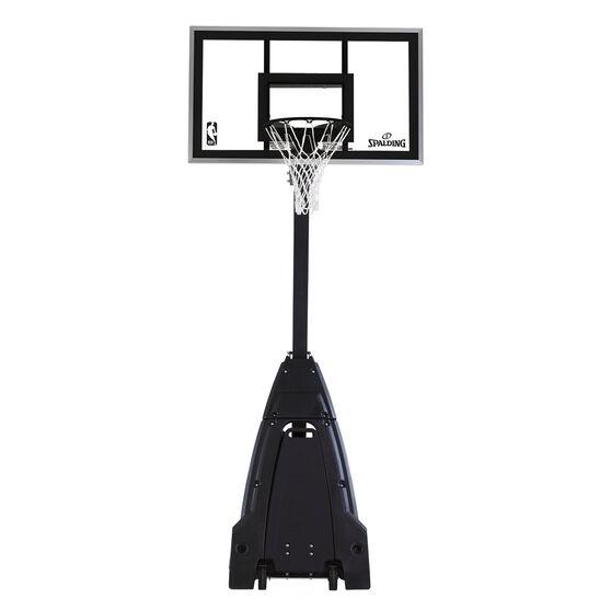 """Spalding 60"""" Glass NBA Stealth Basketball System, , rebel_hi-res"""