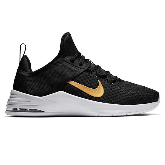 Nike Air Max Bella TR 2 Womens Training Shoes, Black / Gold, rebel_hi-res