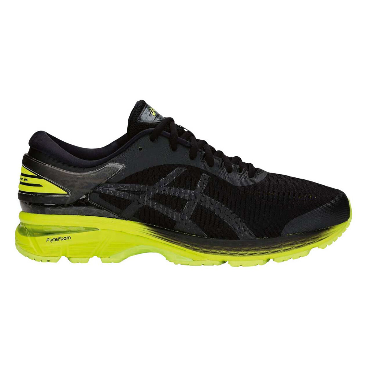 ade58d240111 ... closeout asics gel kayano 25 mens running shoes black lime us 7 black  lime be364 82ea8