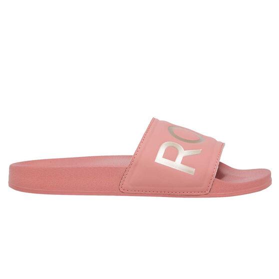 Roxy Slippy II Womens Slides, Pink, rebel_hi-res