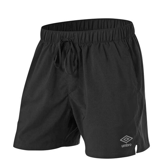 Umbro Mens 5in Staple Training Shorts, Black, rebel_hi-res
