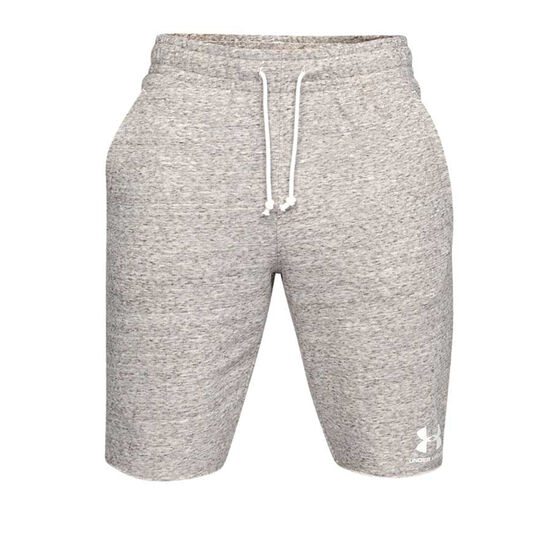 Under Armour Mens Sportstyle Terry Shorts, White, rebel_hi-res
