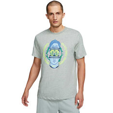 Nike Mens Dri-FIT Graphic Training Tee Grey S, Grey, rebel_hi-res