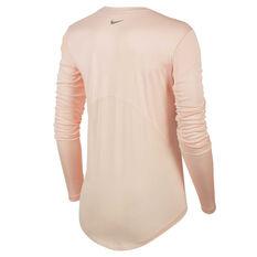 Nike Womens Miler Running Top Pink XS, Pink, rebel_hi-res