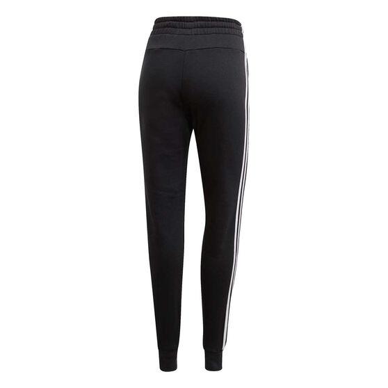 adidas Womens Essentials 3 Stripes Track Pants Black XL, Black, rebel_hi-res