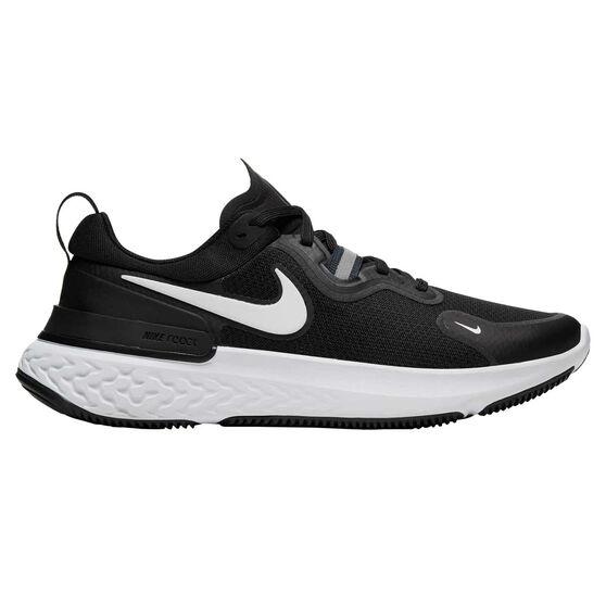 Nike React Miler Womens Running Shoes, Black/White, rebel_hi-res