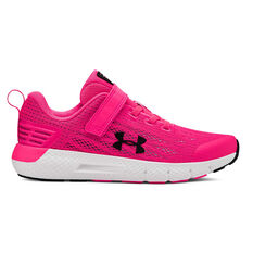 Under Armour Charged Rogue Kids Running Shoes Pink/White US 11, Pink/White, rebel_hi-res