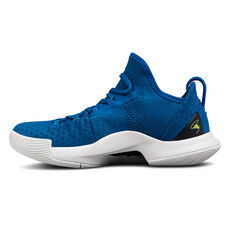 Under Armour Curry 5 Kids Basketball Shoes Blue / White US 11, Blue / White, rebel_hi-res