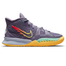 Nike Kyrie 7 Kids Basketball Shoes Purple US 4, Purple, rebel_hi-res
