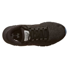 Under Armour Charged Rogue Twist Ice Mens Running Shoes, Black / Grey, rebel_hi-res