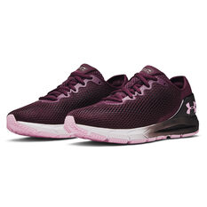 Under Armour HOVR Sonic 4 Womens Running Shoes, Purple/White, rebel_hi-res