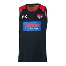 Essendon Bombers 2020 Mens Training Singlet Black / Red S, Black / Red, rebel_hi-res