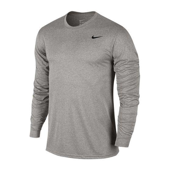 Nike Mens Dry Legend 2.0 Longsleeve Training Tee, Dark Grey, rebel_hi-res