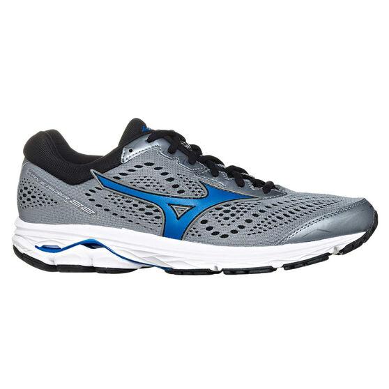 Mizuno Wave Rider 22 2E Mens Running Shoes, Grey / Blue, rebel_hi-res
