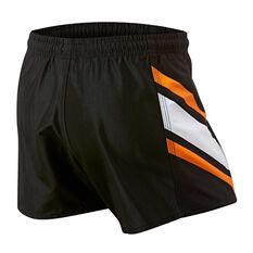 Wests Tigers Mens Home Supporter Shorts Black S, Black, rebel_hi-res